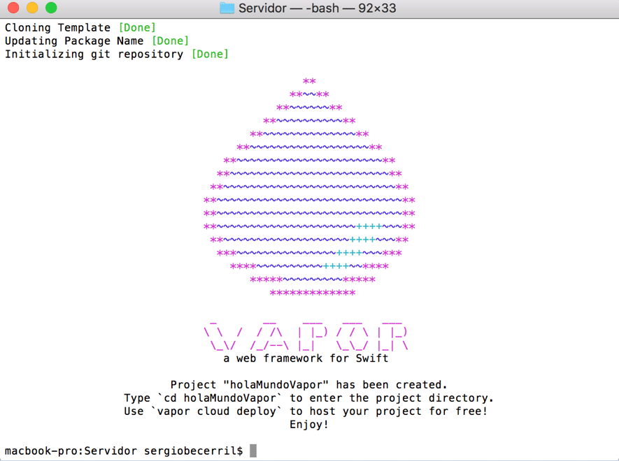 Vapor el Framework para usar Swift en un servidor6