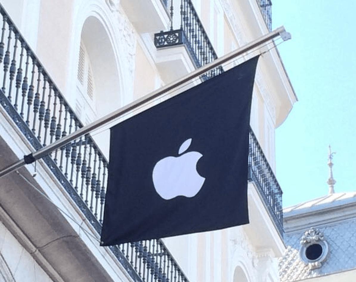 bandera-apple-store-puerta-del-sol