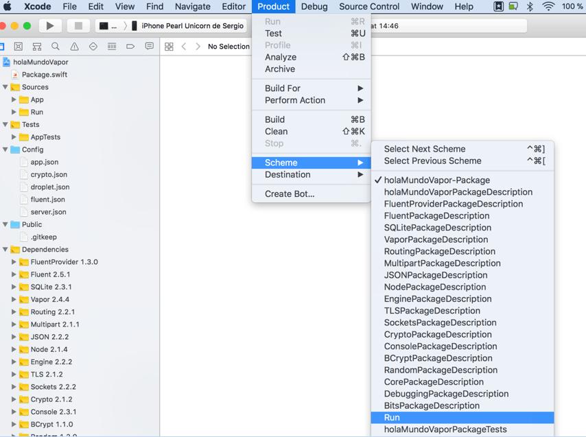 Vapor el Framework para usar Swift en un servidor12