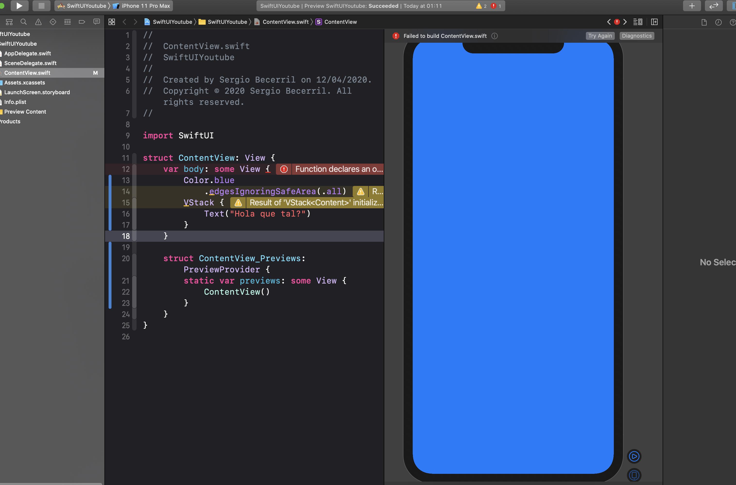 Cómo cambiar el color de fondo de una vista en SwiftUI3