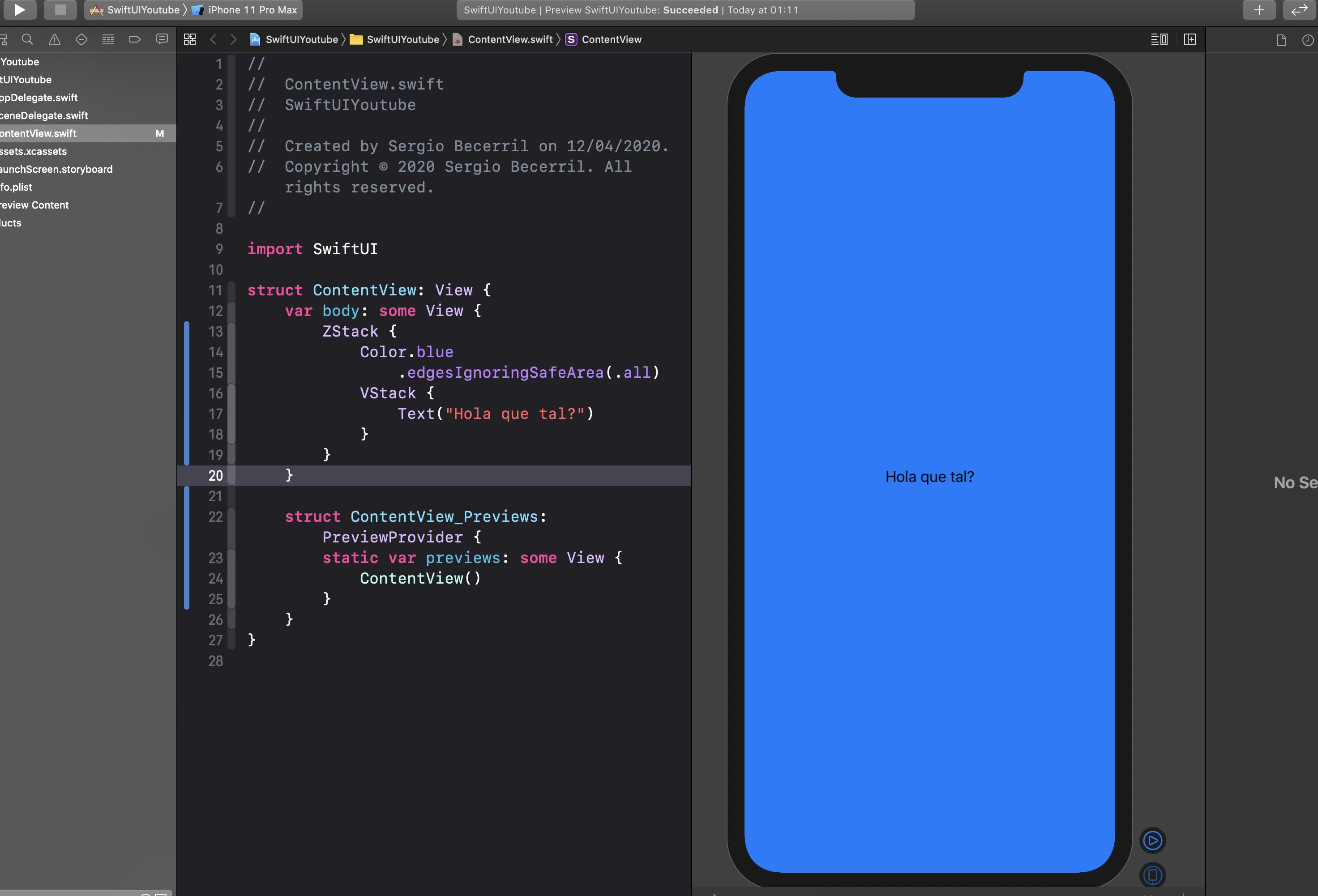 Cómo cambiar el color de fondo de una vista en SwiftUI4